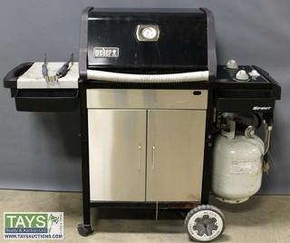 Weber Spirit Grill with Wheels, Accessories and Tarp Cover