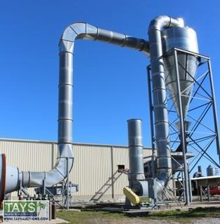Advanced Metals Galvanized Receiving Hopper w/ Blower