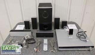One DVD Home Theater System with Wireless Surround Sound Kit with Six Speakers by Sony