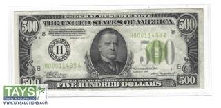 1934 $500 Federal Reserve Note St. Louis